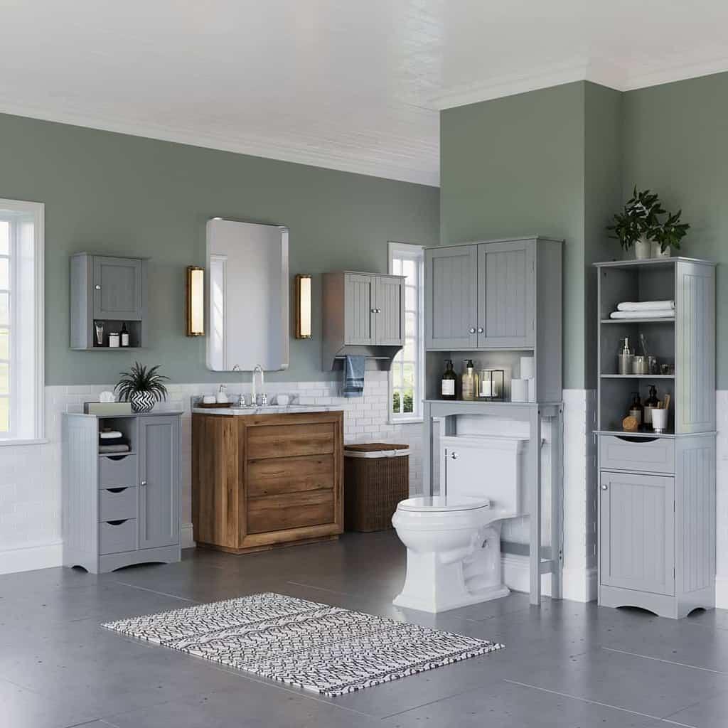 Freestanding Over The Toilet Storage Ideas 4 -riverridgehome