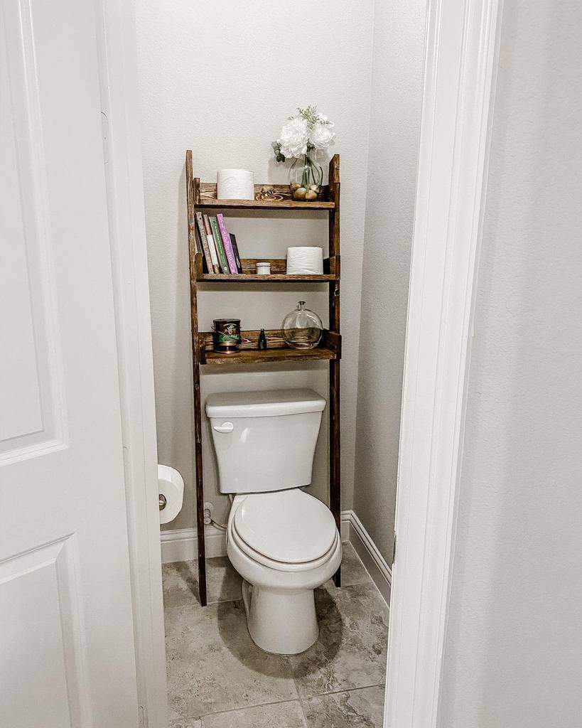 Freestanding Over The Toilet Storage Ideas -craftsbyabuela