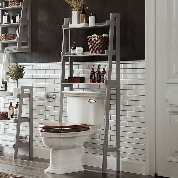 Freestanding Over The Toilet Storage Ideas -riverridgehome