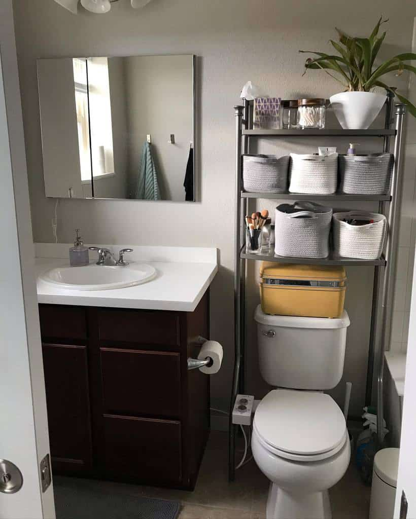 Freestanding Over The Toilet Storage Ideas -shannahclaws
