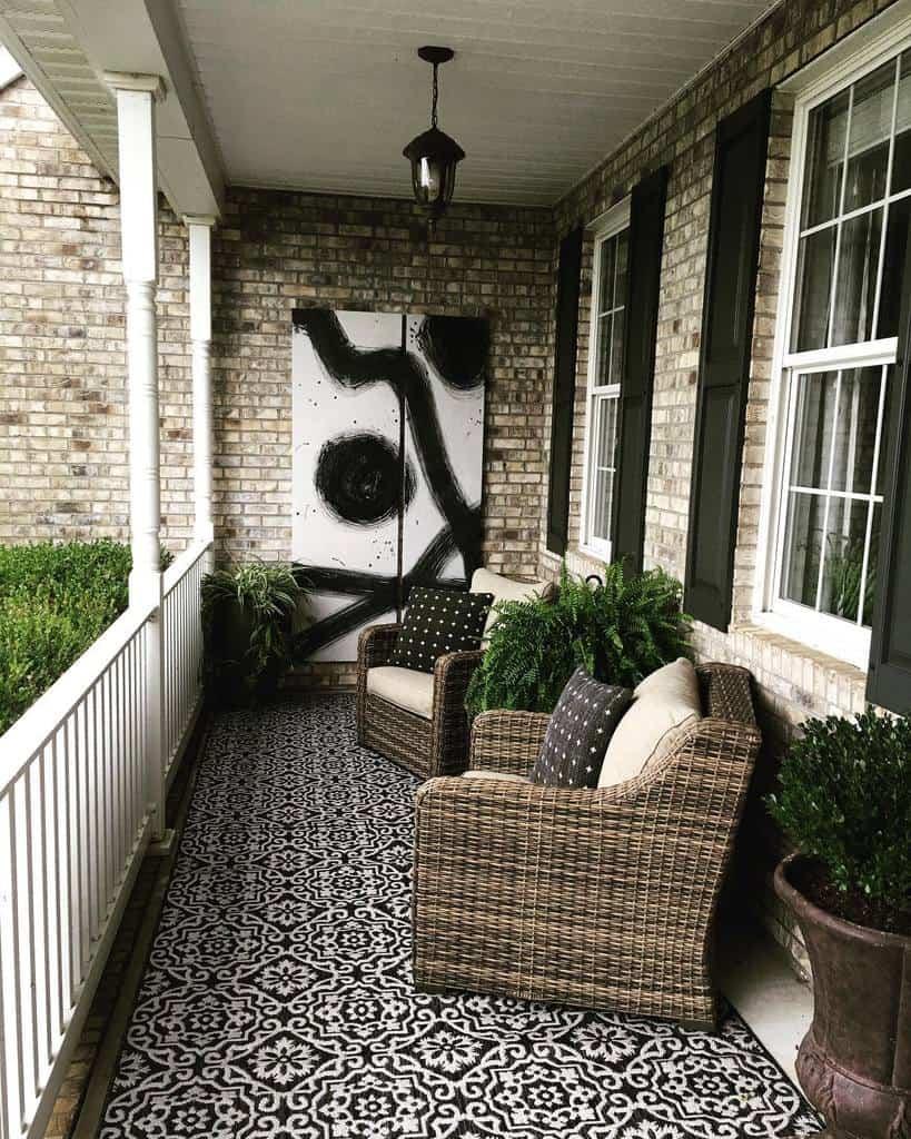 Furniture Front Porch Decorating Ideas -edenphotos