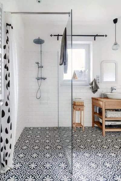 Glass Partition Doorless Walk In Shower Ideas 2