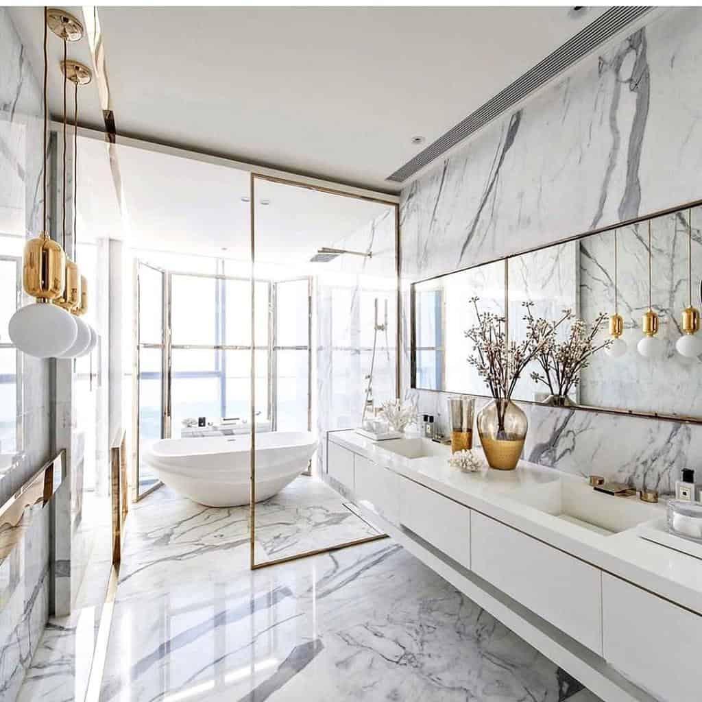 Glass Partition Doorless Walk In Shower Ideas -mikolmarmi
