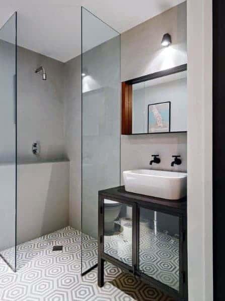 Glass Partition Doorless Walk In Shower Ideas