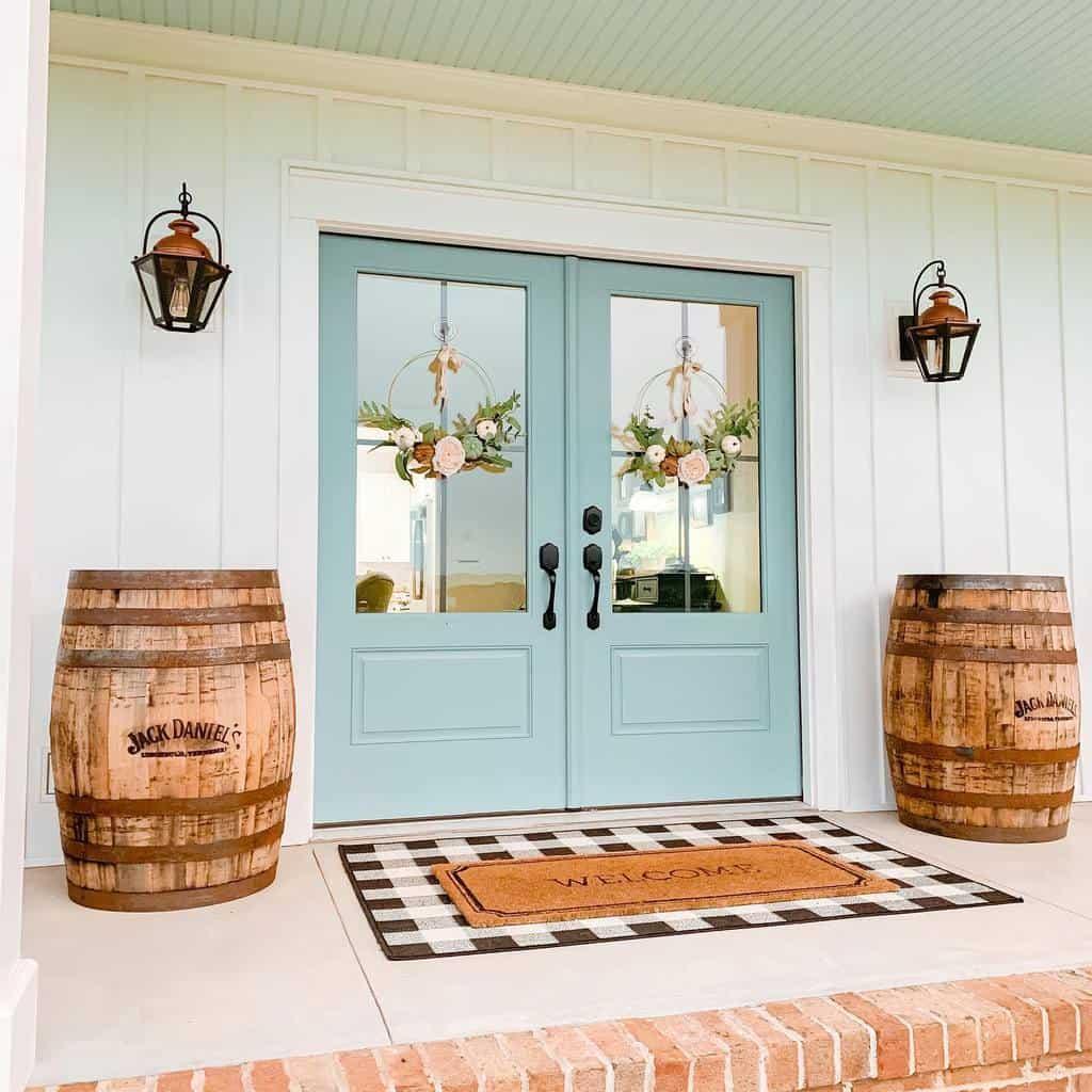 Green Front Door Ideas -greenvalleygable