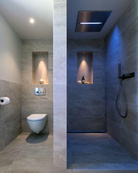 Half Wall Partition Doorless Walk In Shower Ideas 2