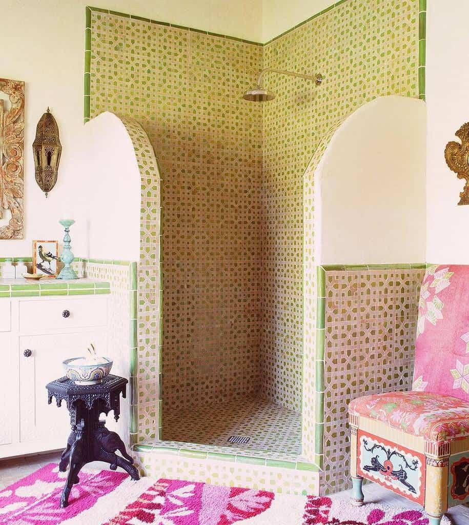 Half Wall Partition Doorless Walk In Shower Ideas -kathrynmireland