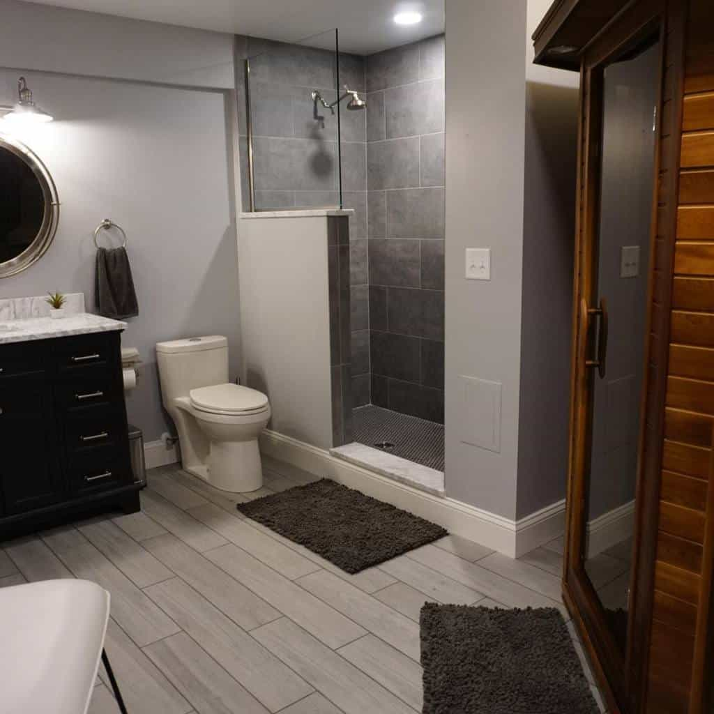 Half Wall Partition Doorless Walk In Shower Ideas -nhdconstructiondesign
