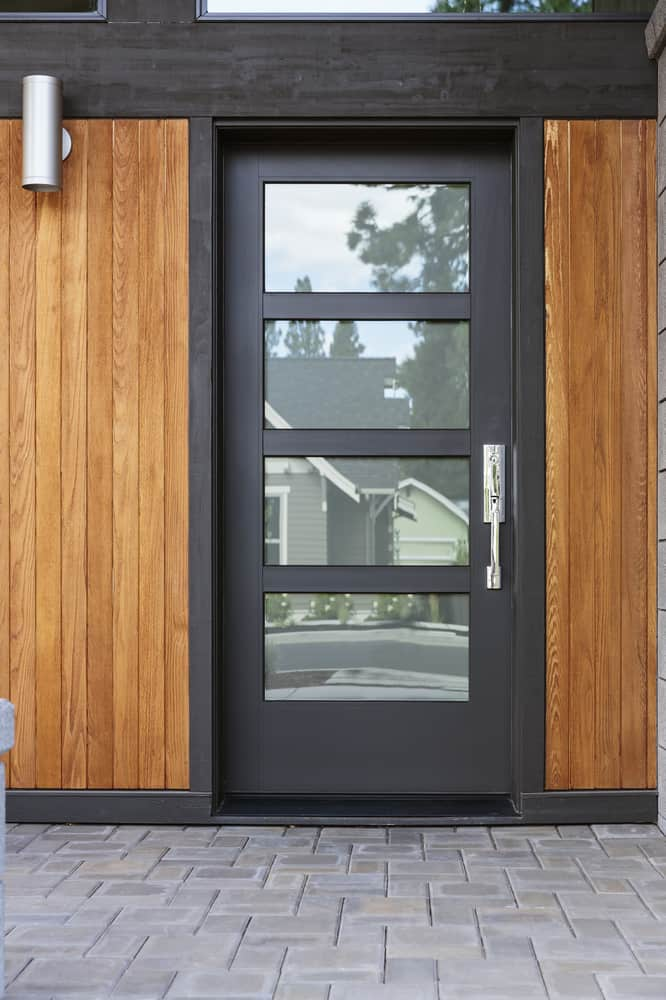 Modern,Front,Black,Door,With,Frosted,Windows