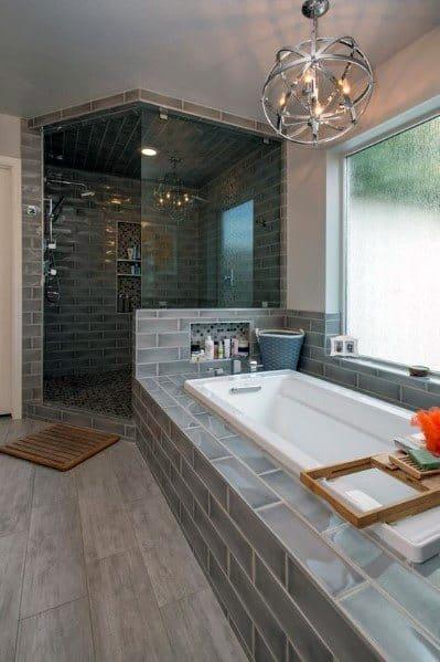 Large Doorless Walk In Shower Ideas 2