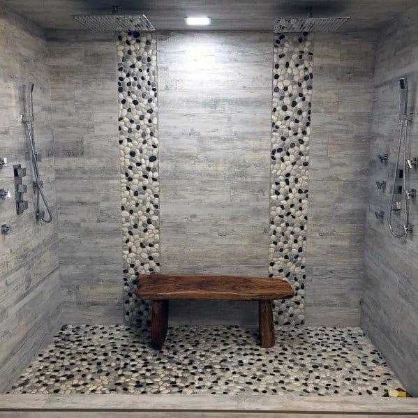 Large Doorless Walk In Shower Ideas 5