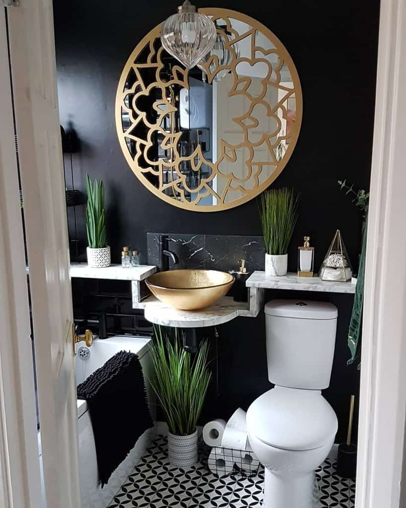 Ledge Over The Toilet Storage Ideas -bungalow_and_bargains