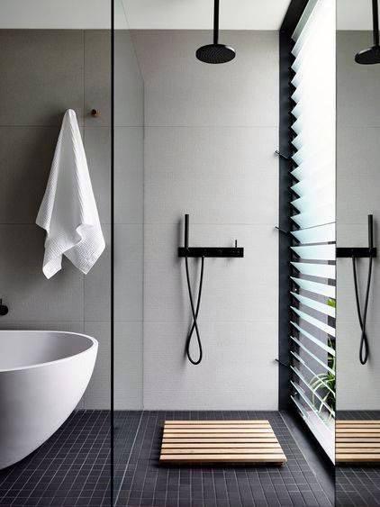 Modern Doorless Walk In Shower Ideas 1