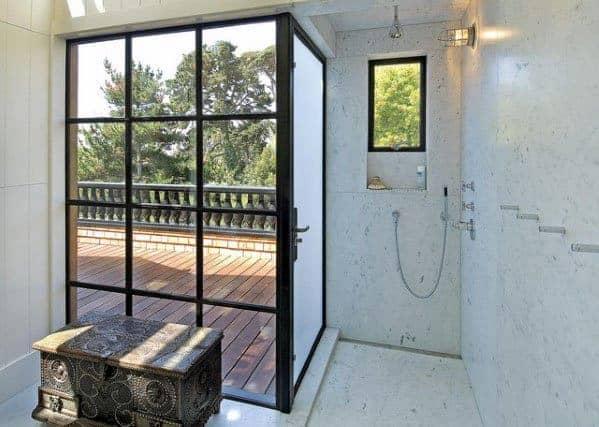 Modern Doorless Walk In Shower Ideas 2