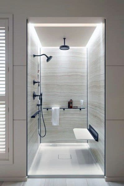 Modern Doorless Walk In Shower Ideas 6