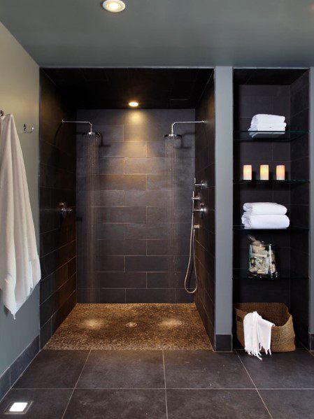 Modern Doorless Walk In Shower Ideas 7