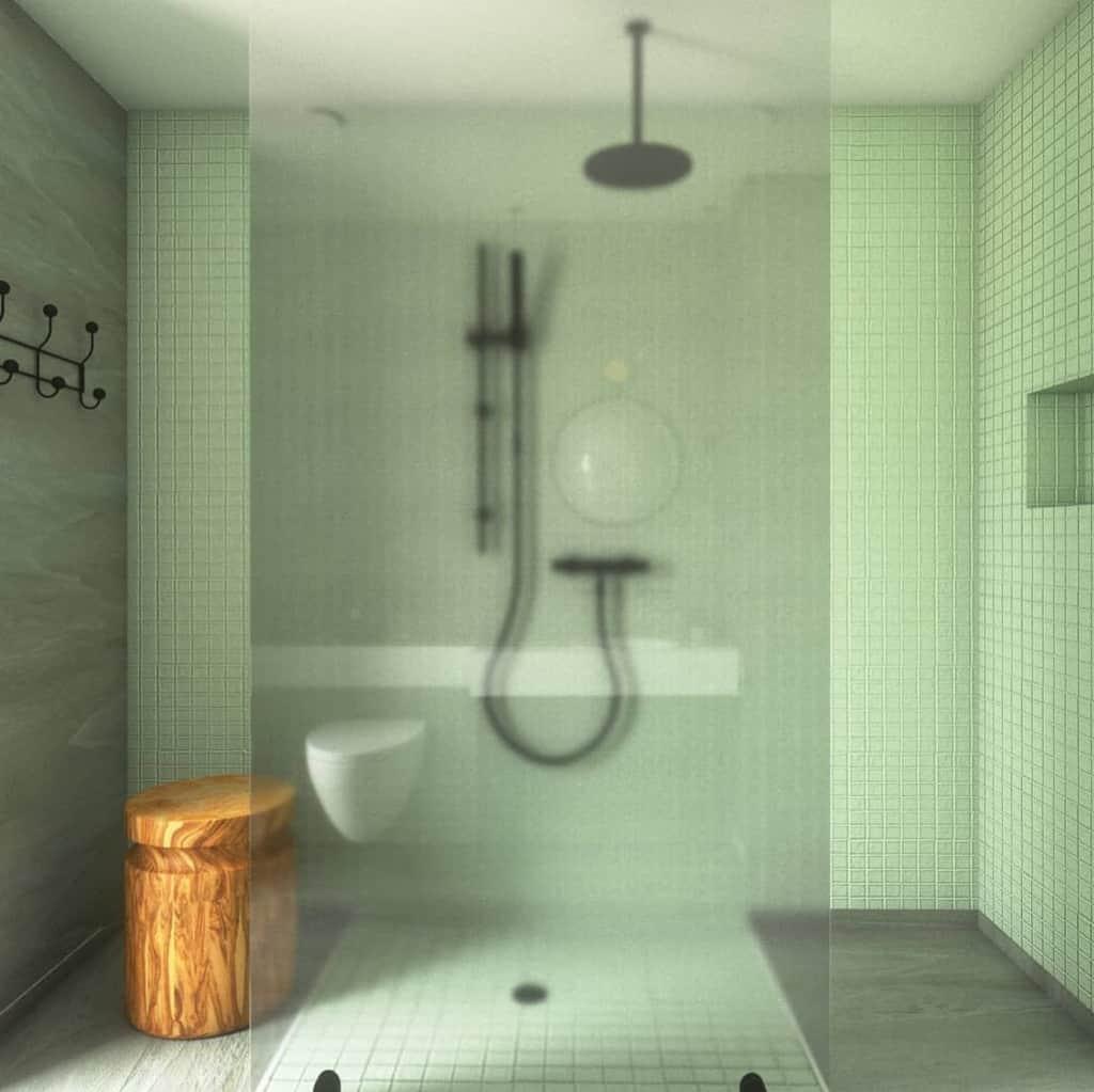 Modern Doorless Walk In Shower Ideas -kachi.interiordesign