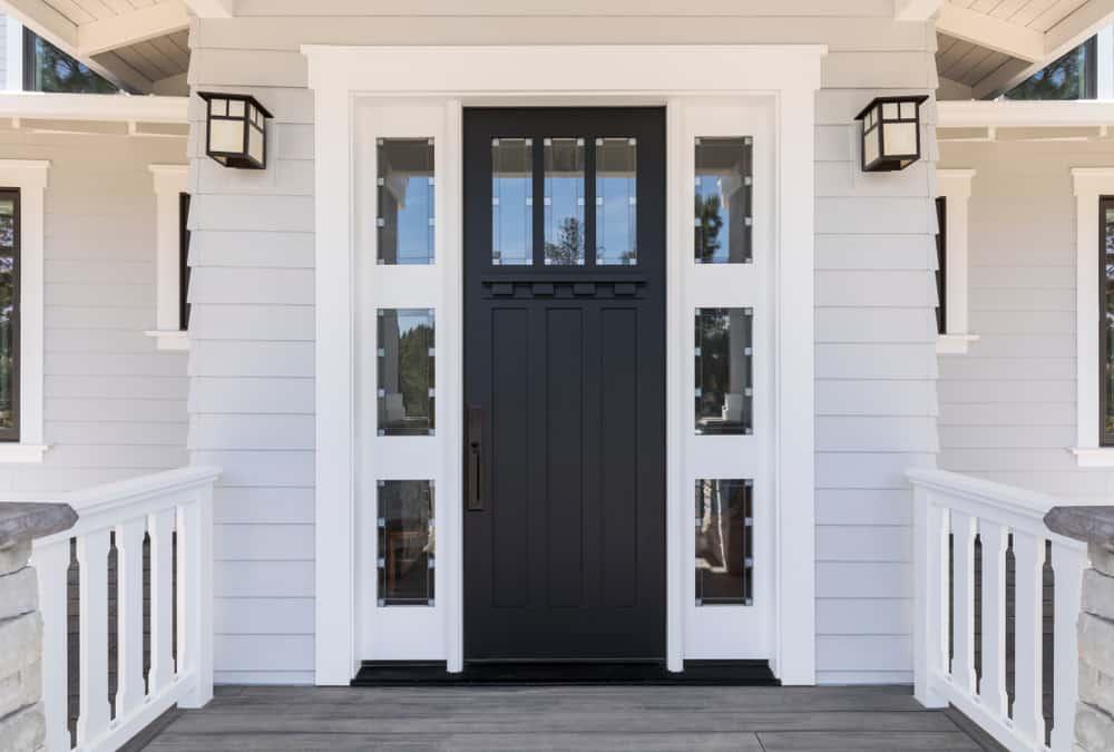 Front,Black,Door,That,Is,Secured