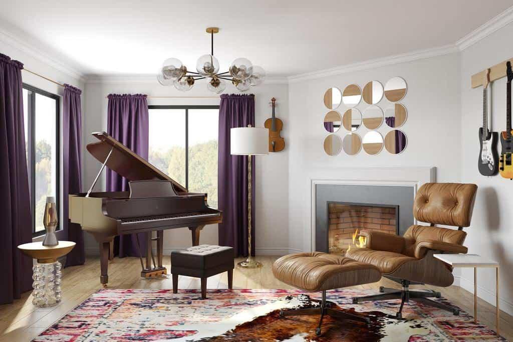 Modern Music Room Ideas -alexandra.lane.interiors