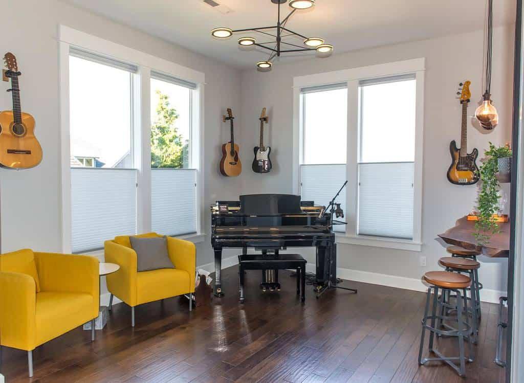 Modern Music Room Ideas -silviaschaefferdesign