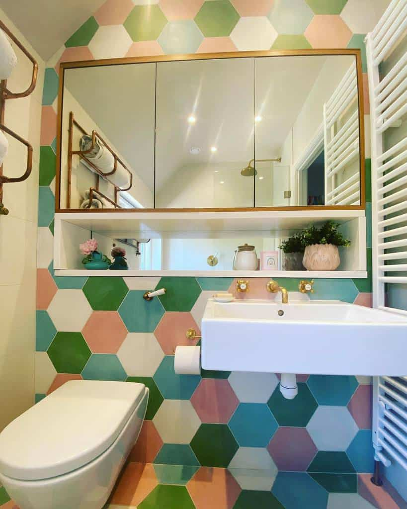 Niche Over The Toilet Storage Ideas -roselynninteriors