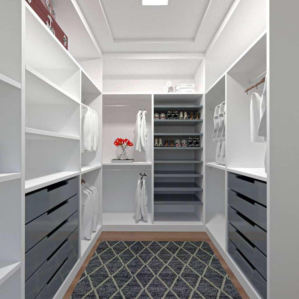 Open Clothes Storage Ideas -carlapires.arq