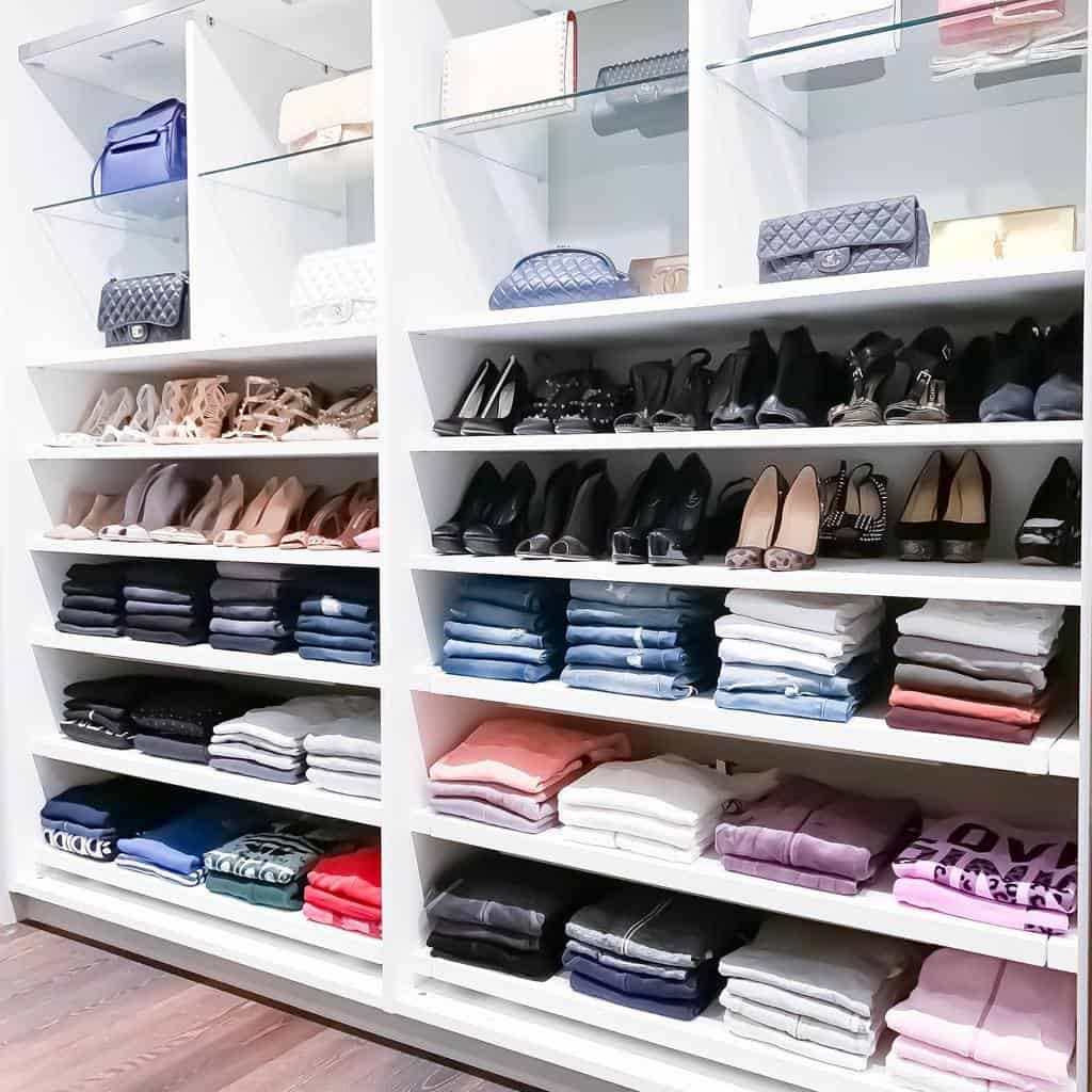 Open Clothes Storage Ideas -theprojectneat