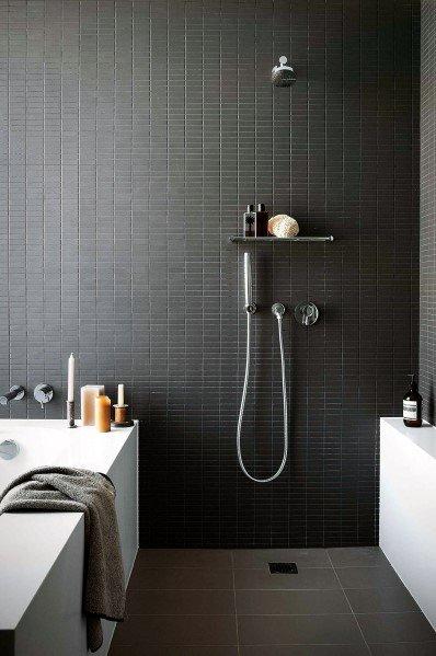 Open Concept Doorless Walk In Shower Ideas 3