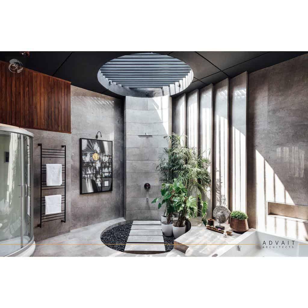 Open Concept Doorless Walk In Shower Ideas -advaitarchitects