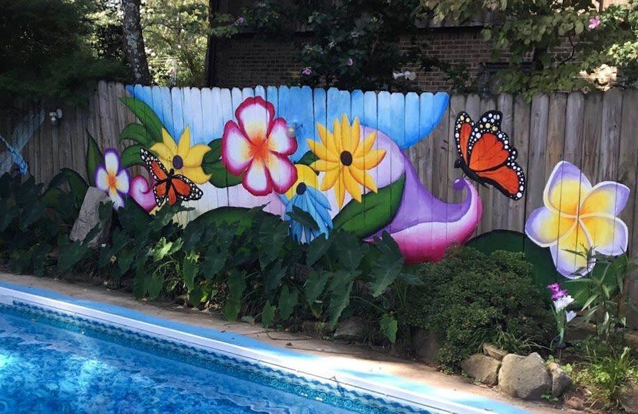 Painted Pallet Fence Ideas -brigadoonsmart