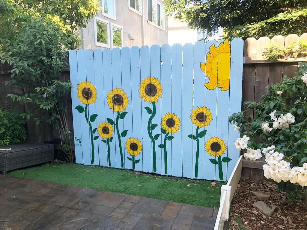 Painted Pallet Fence Ideas -cherrichiodo