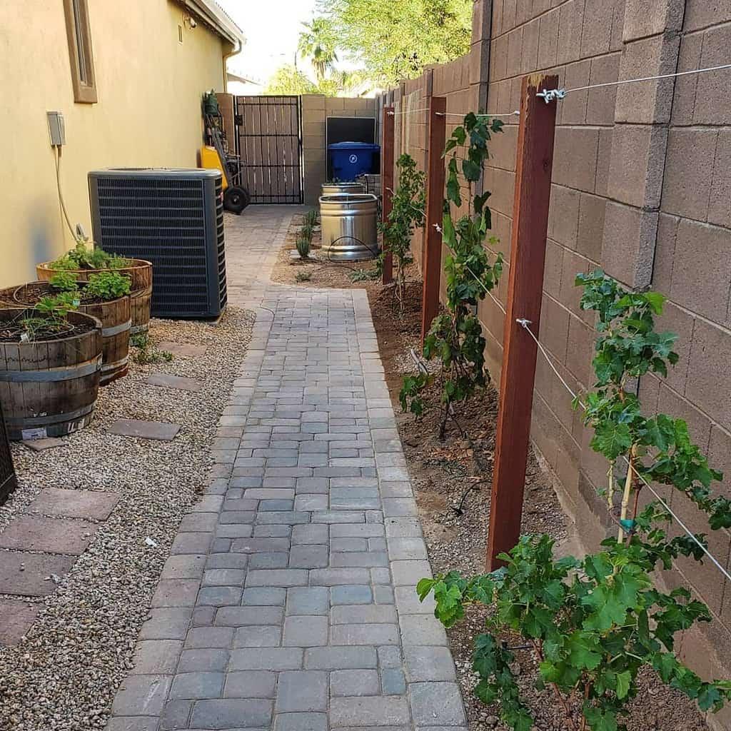 Paver Side Yard Ideas -thegardeningpharmacist