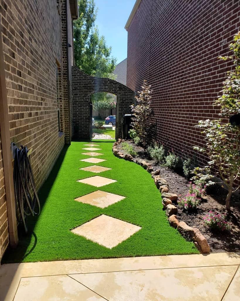 Paver Side Yard Ideas -turfrocks