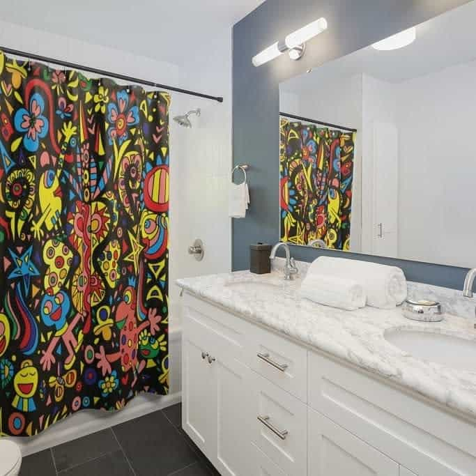 Personalized Shower Curtain Ideas -saritshay