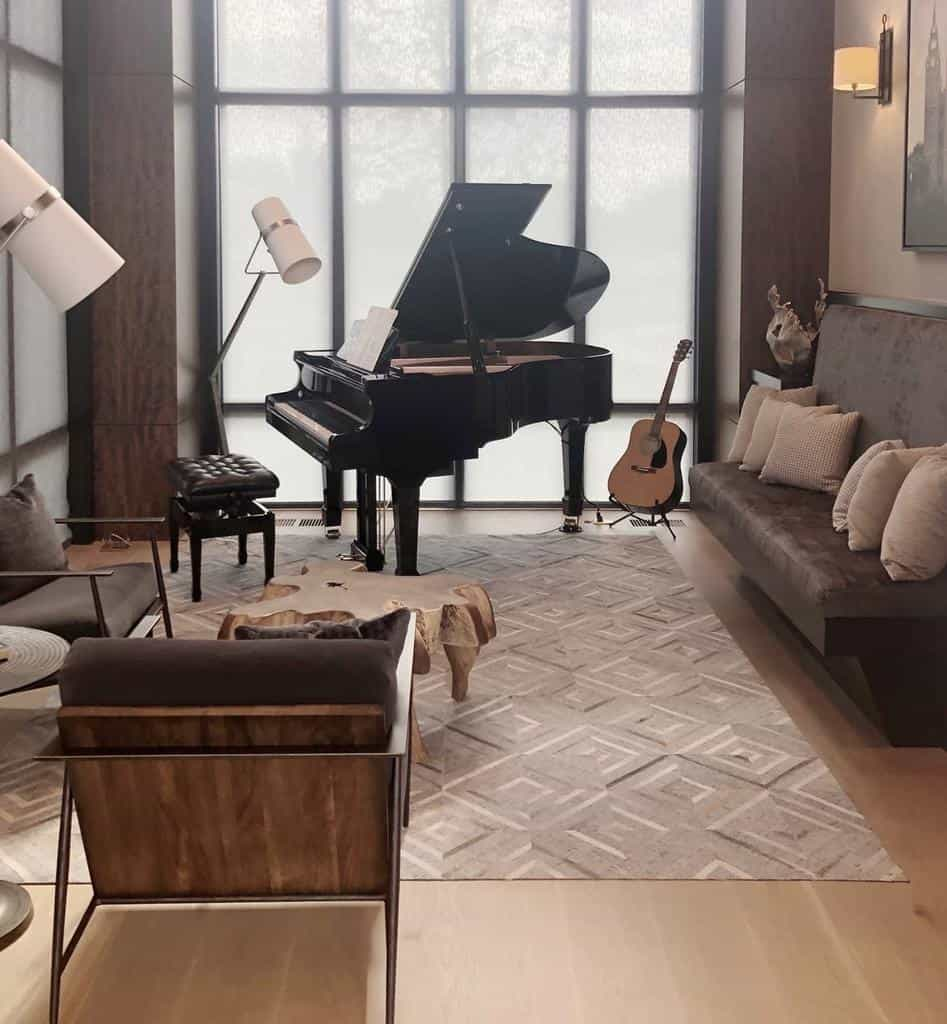 Piano Music Room Ideas -designcollectivewest