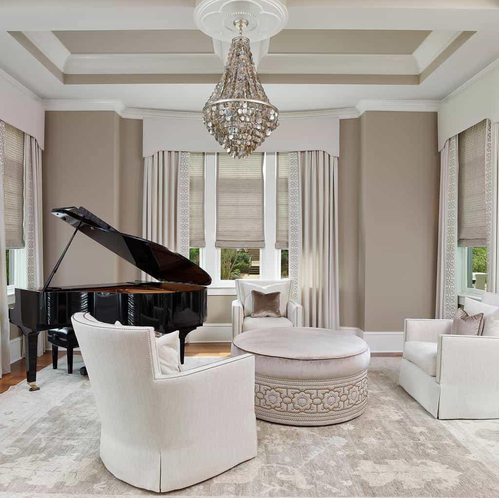Piano Music Room Ideas -lorrainegvaledesign