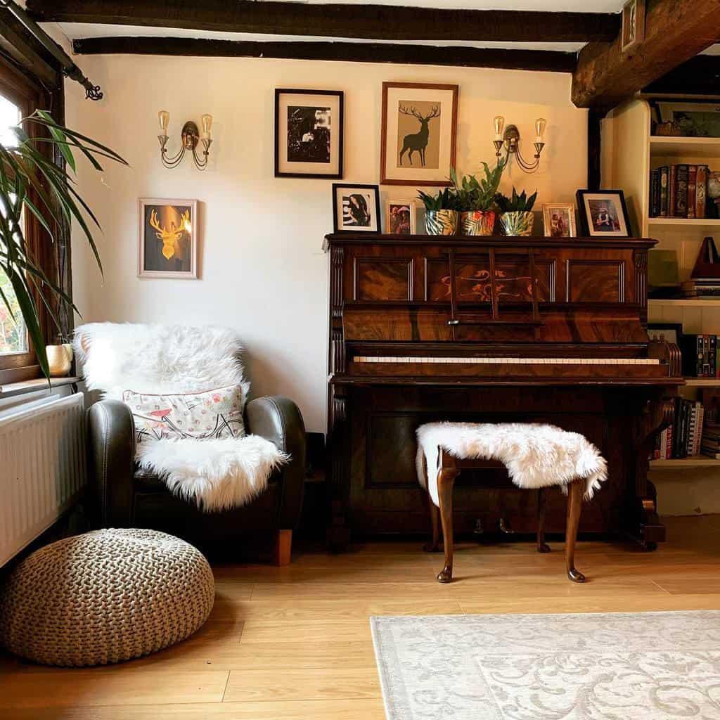 Piano Music Room Ideas -ourtudorhouse