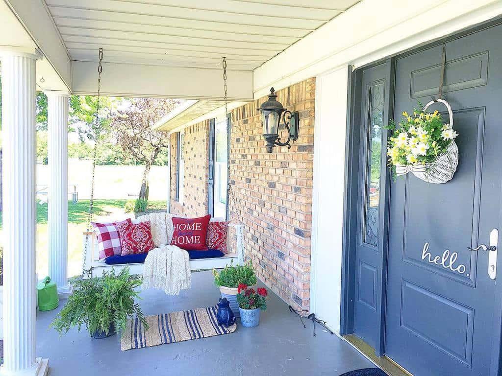 Plants Front Porch Decorating Ideas -livesimplymodernfarmhouse
