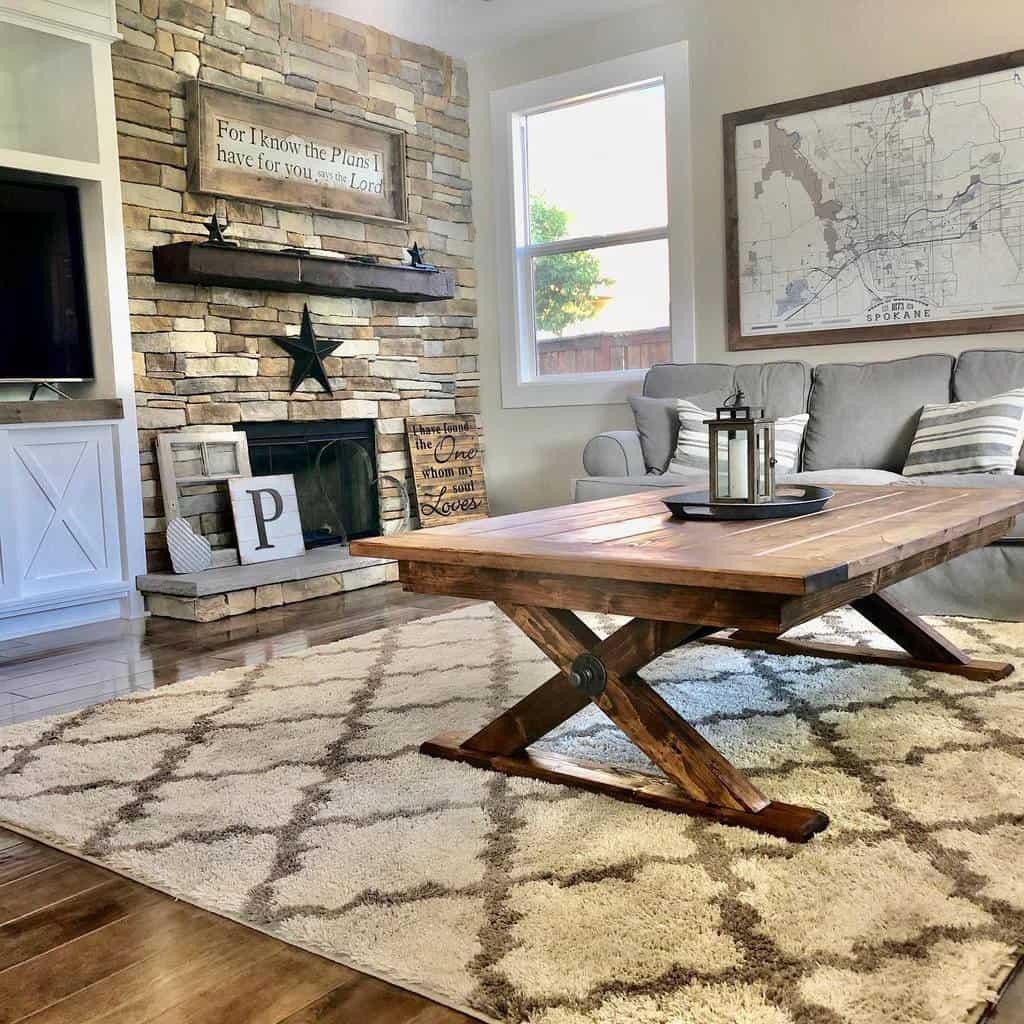Rustic Coffee Table Ideas -oaktreedesignco