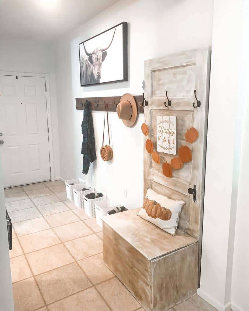 Rustic Small Entryway Ideas -refreshwithme