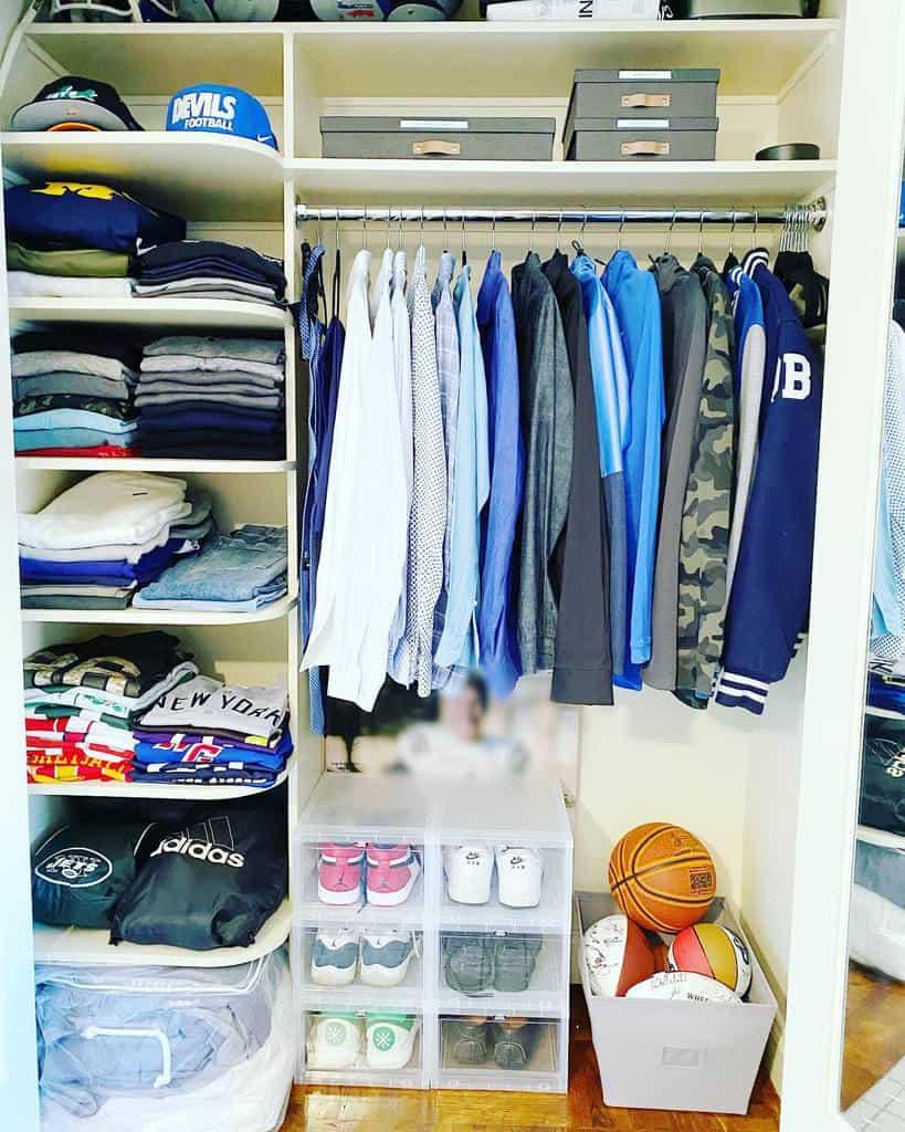 Shelf Clothes Storage Ideas -just.organize.you