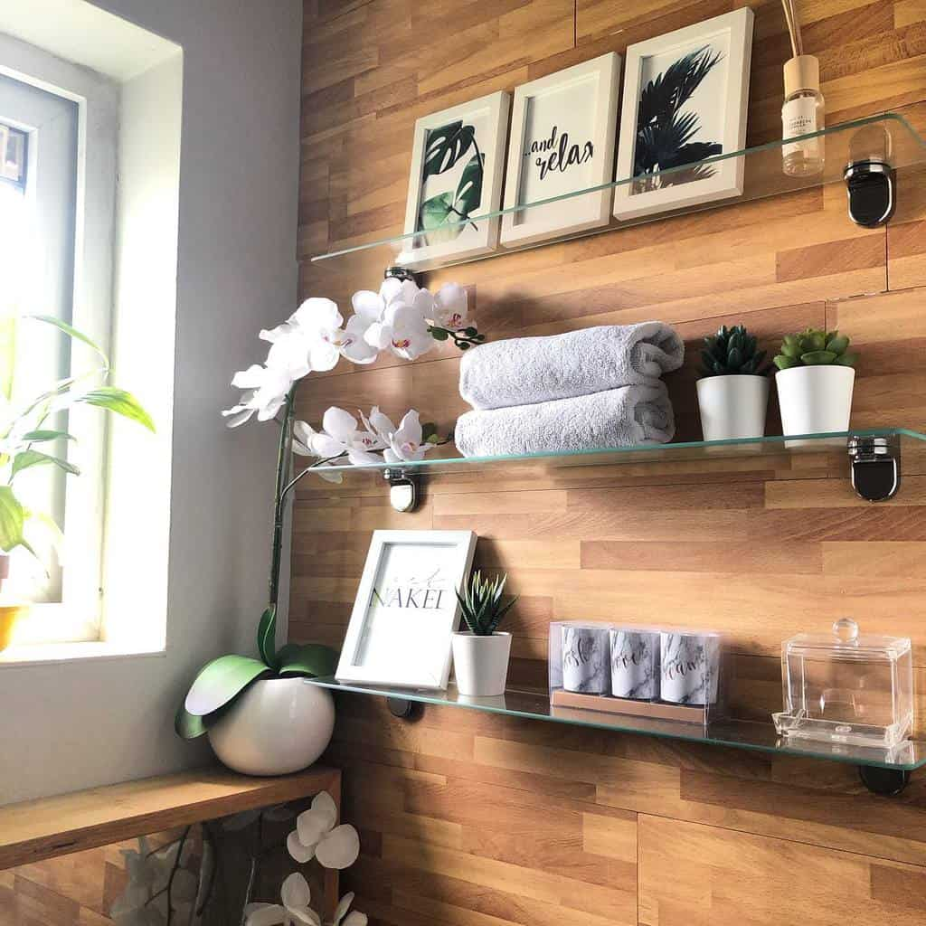 Shelves Over The Toilet Storage Ideas -athomewith_aisha