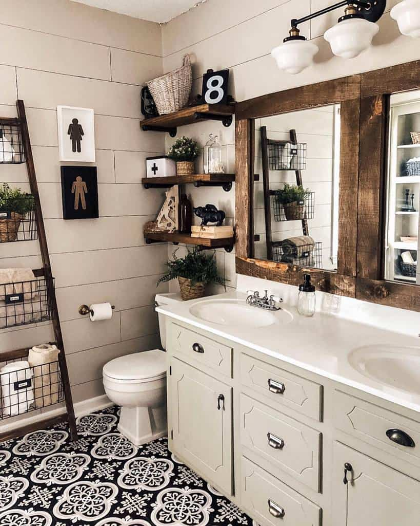 Shelves Over The Toilet Storage Ideas -functionalfarmhouse