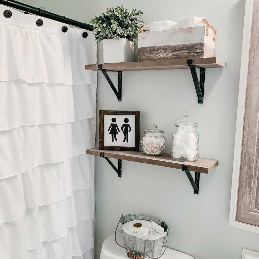 Shelves Over The Toilet Storage Ideas -letsstayhome_blog
