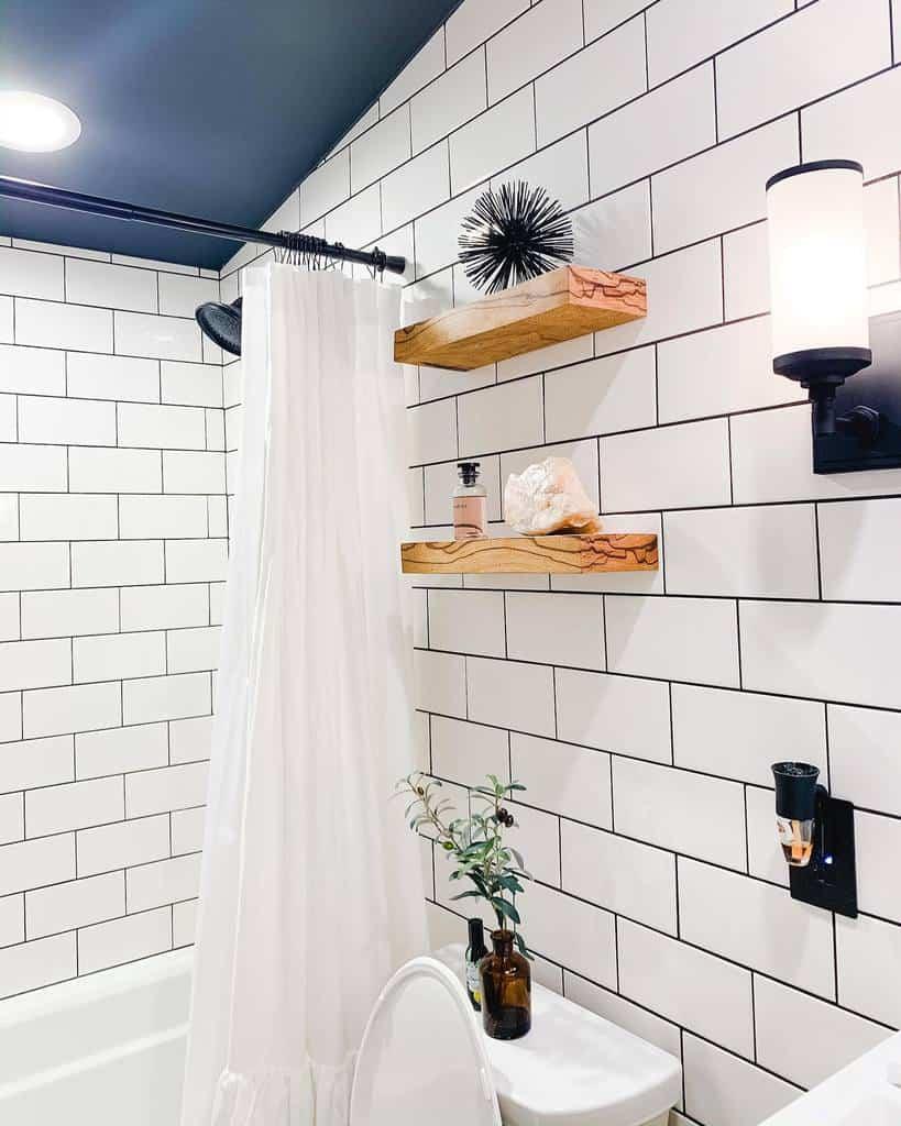 Shelves Over The Toilet Storage Ideas -megan.allen.home