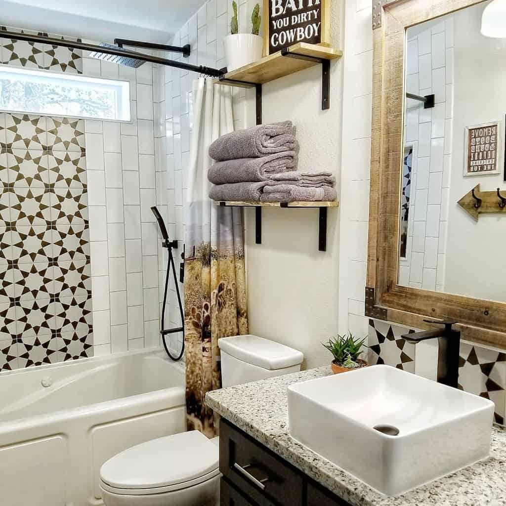 Shelves Over The Toilet Storage Ideas -ourrusticlife