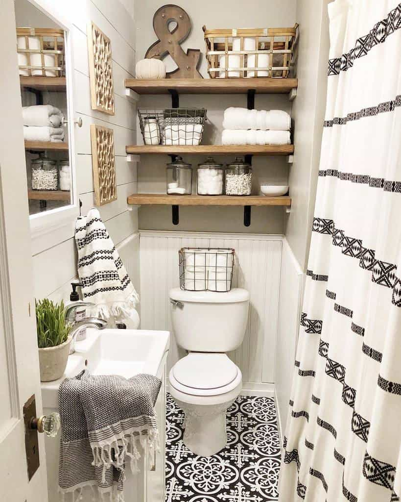 Shelves Over The Toilet Storage Ideas -rustic.sparkle