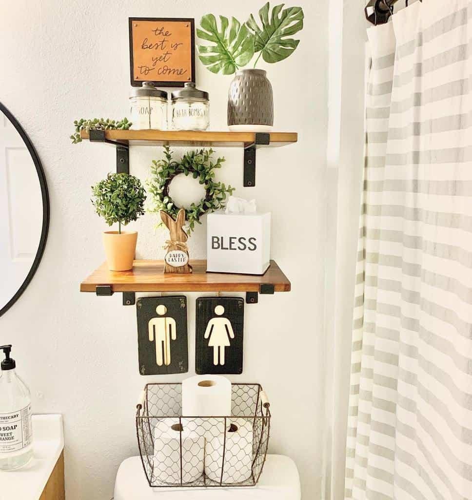 Shelves Over The Toilet Storage Ideas -sharystudio