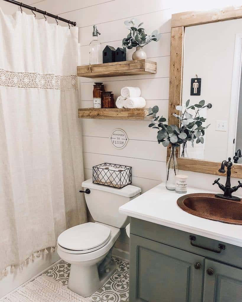 Shelves Over The Toilet Storage Ideas -withlovesierra