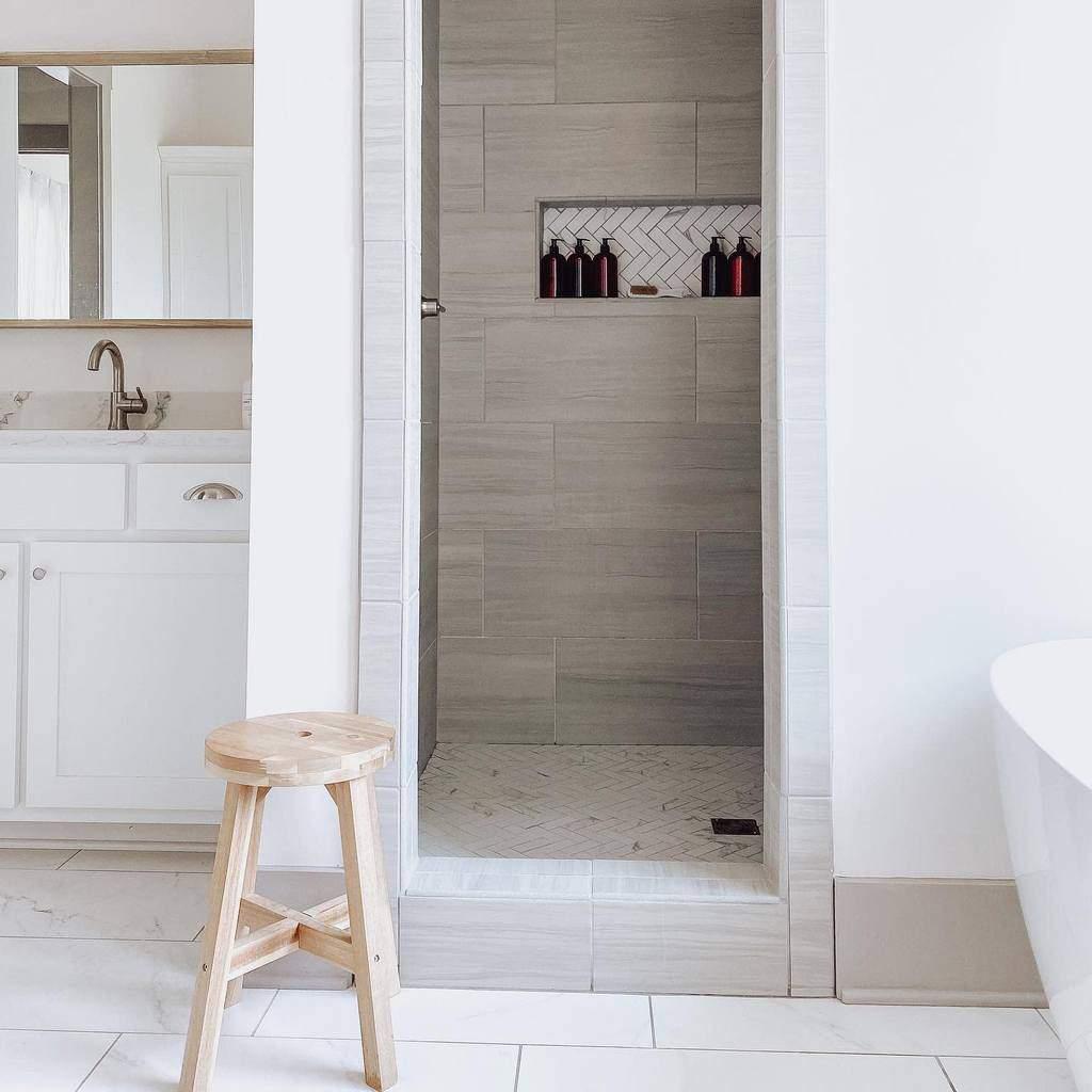 Simple Doorless Walk In Shower Ideas -smithsquaredplus3
